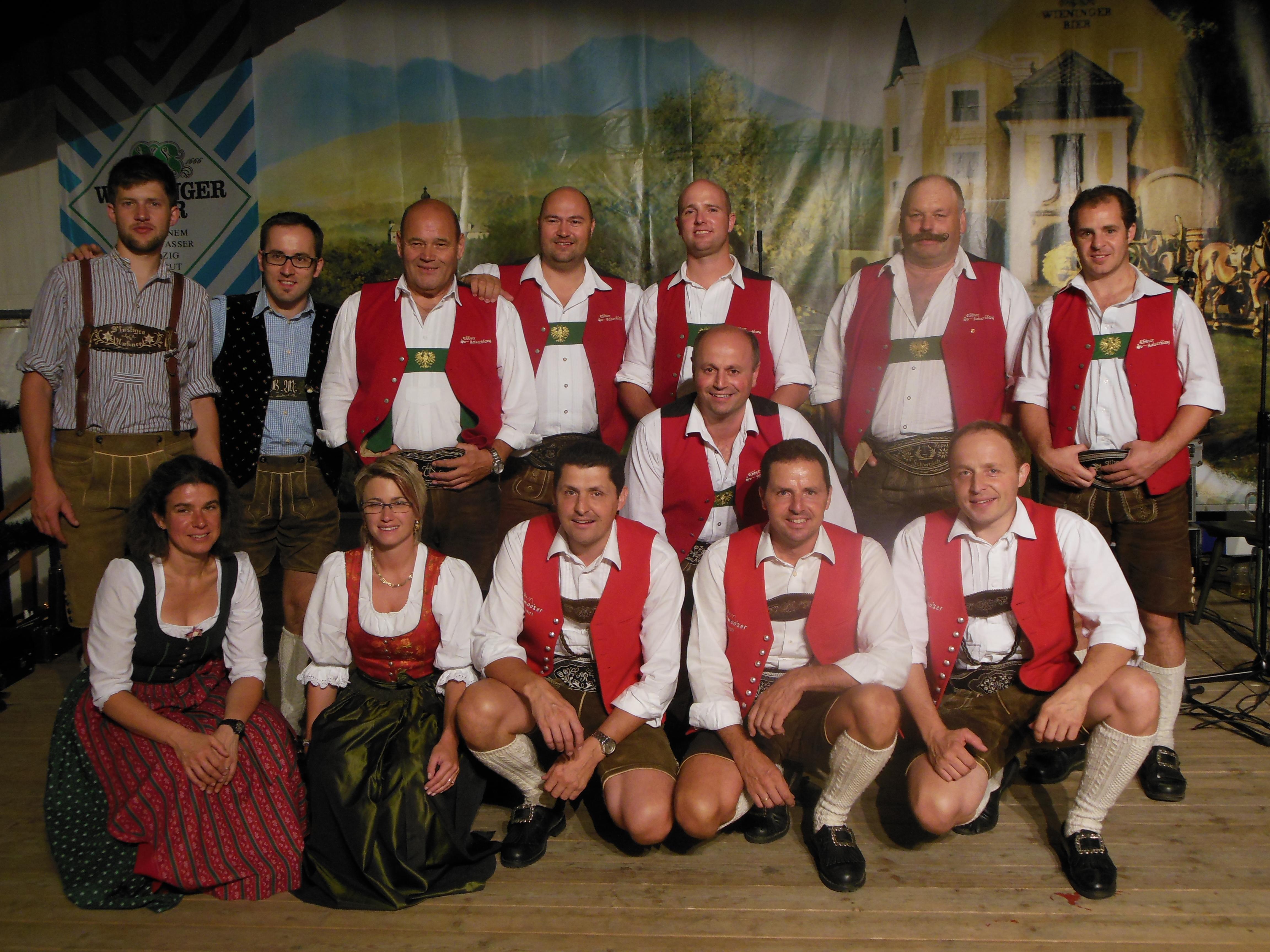 Bierzelt Bayern mit dem Ebbser Kaiserklang und den Salzburger Saitenbläser